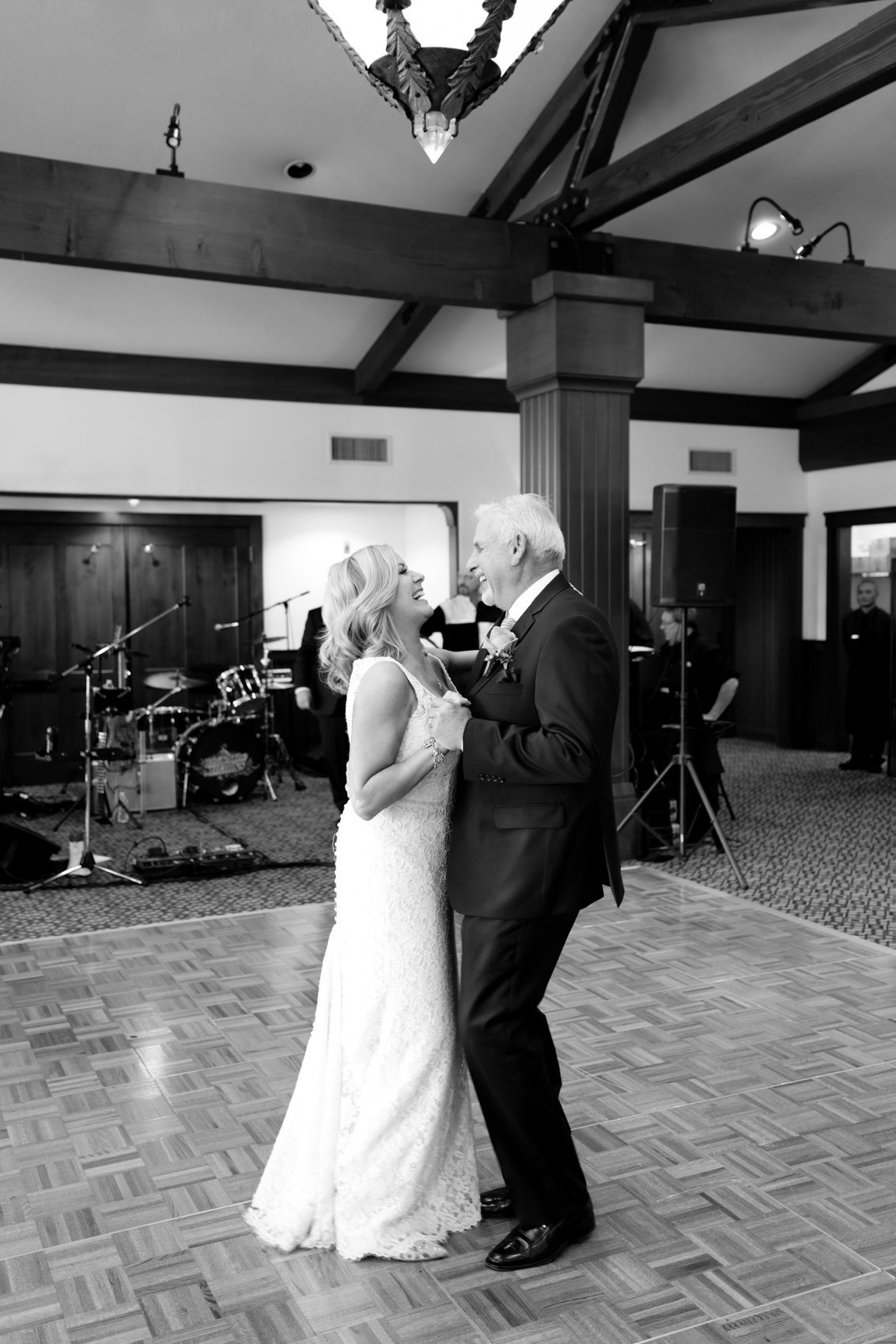Black and white portrait, first dance, northern california wedding