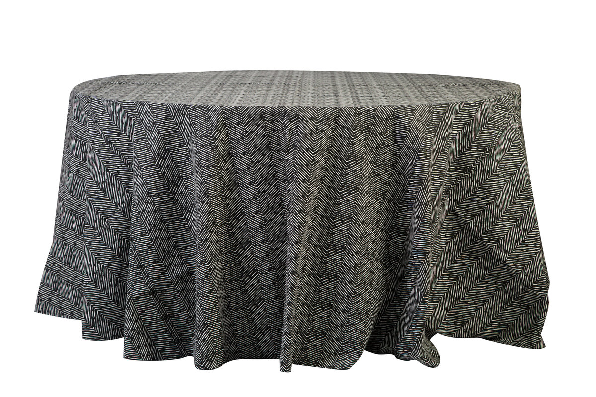 120'' Rd Black Cameron Tablecloth