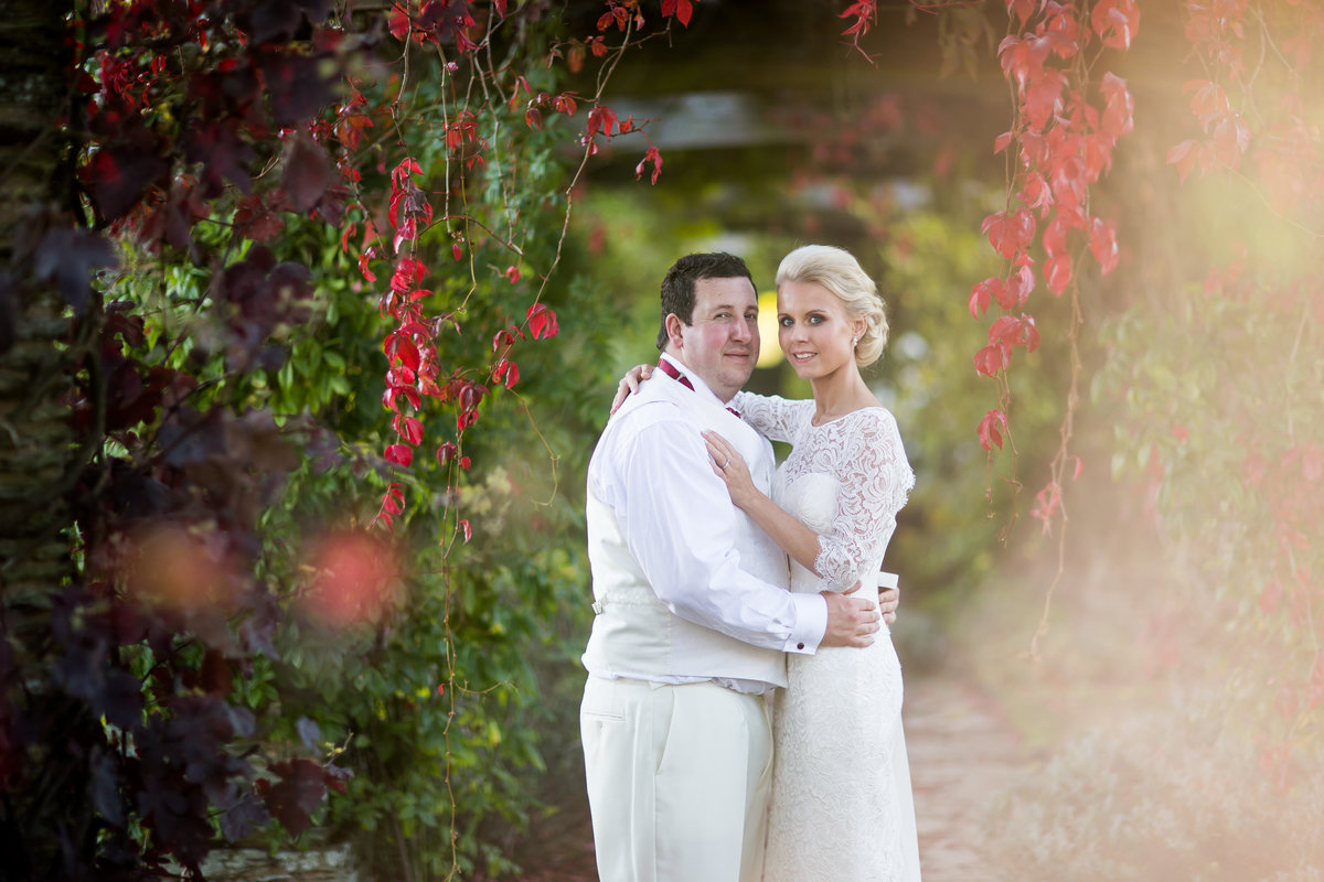 bride and groom at hestercombe gardens wedding