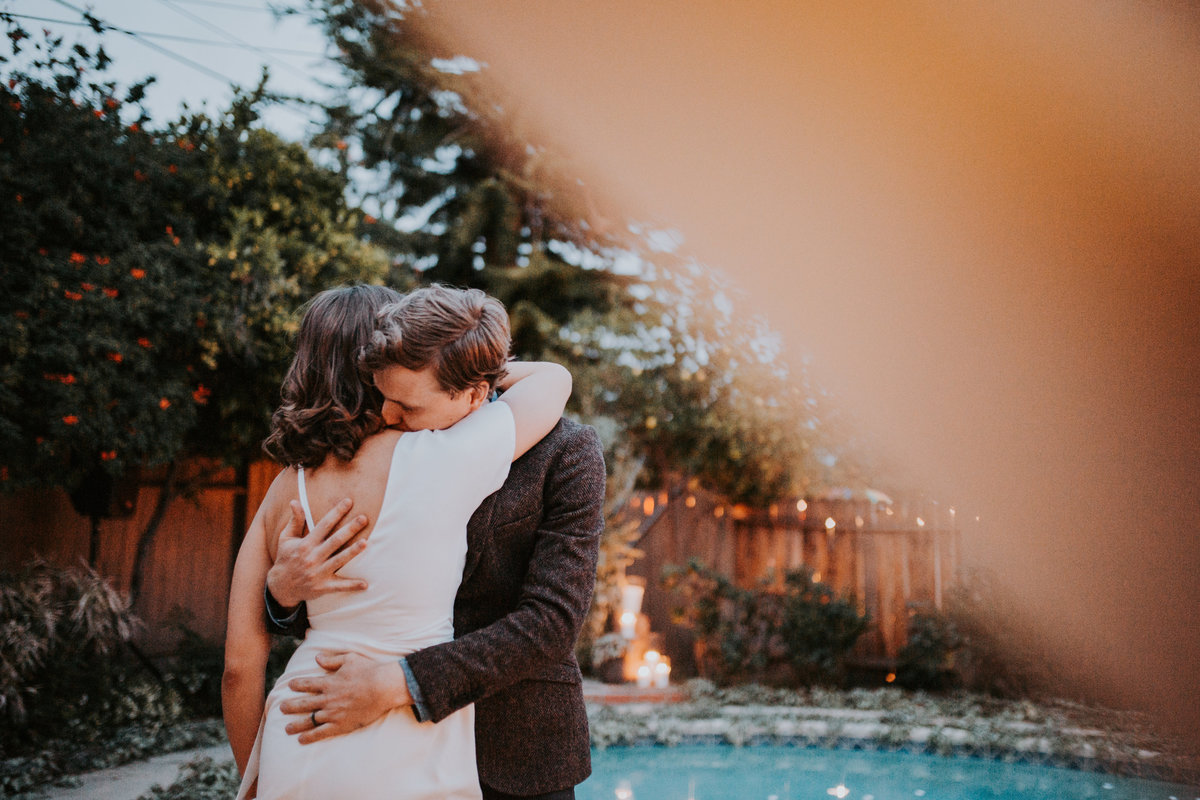 Los Angeles Bride and Groom Green Wedding Joshua Tree Downtown Backyard Wedding California El Paso Life In Tandem Photography-32