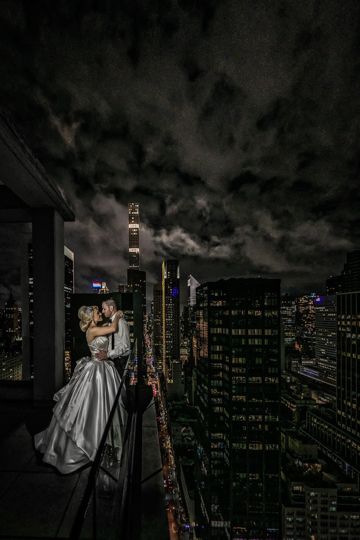 NJ Wedding Photographer Michael Romeo Creations NYC Rooftop wedding