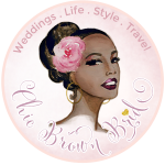 chic brown bride badge