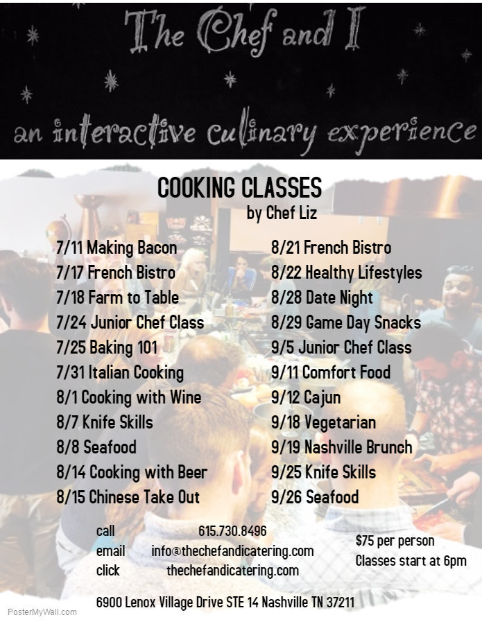 Cooking Classes 3rd Q 2017