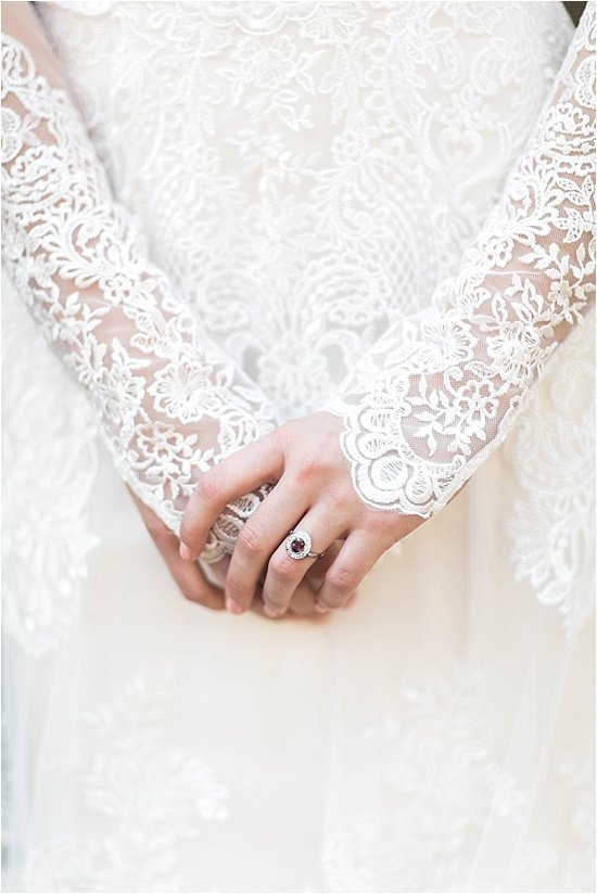 Lace Long Sleeved Dress Ruby Vintage Ring