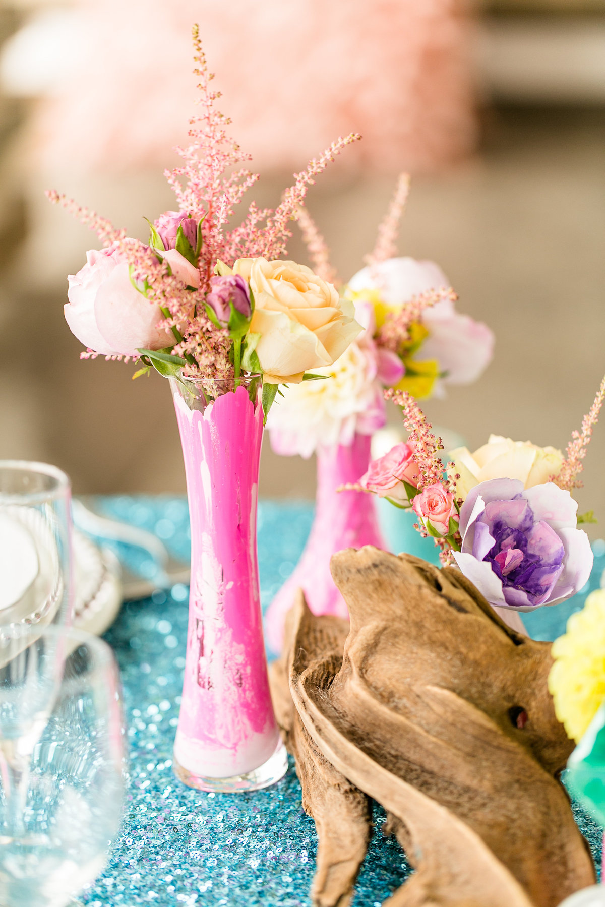 cheerful-teal-pink-yellow-purple-oceanfront-outer-banks-wedding-venue-shoot-106