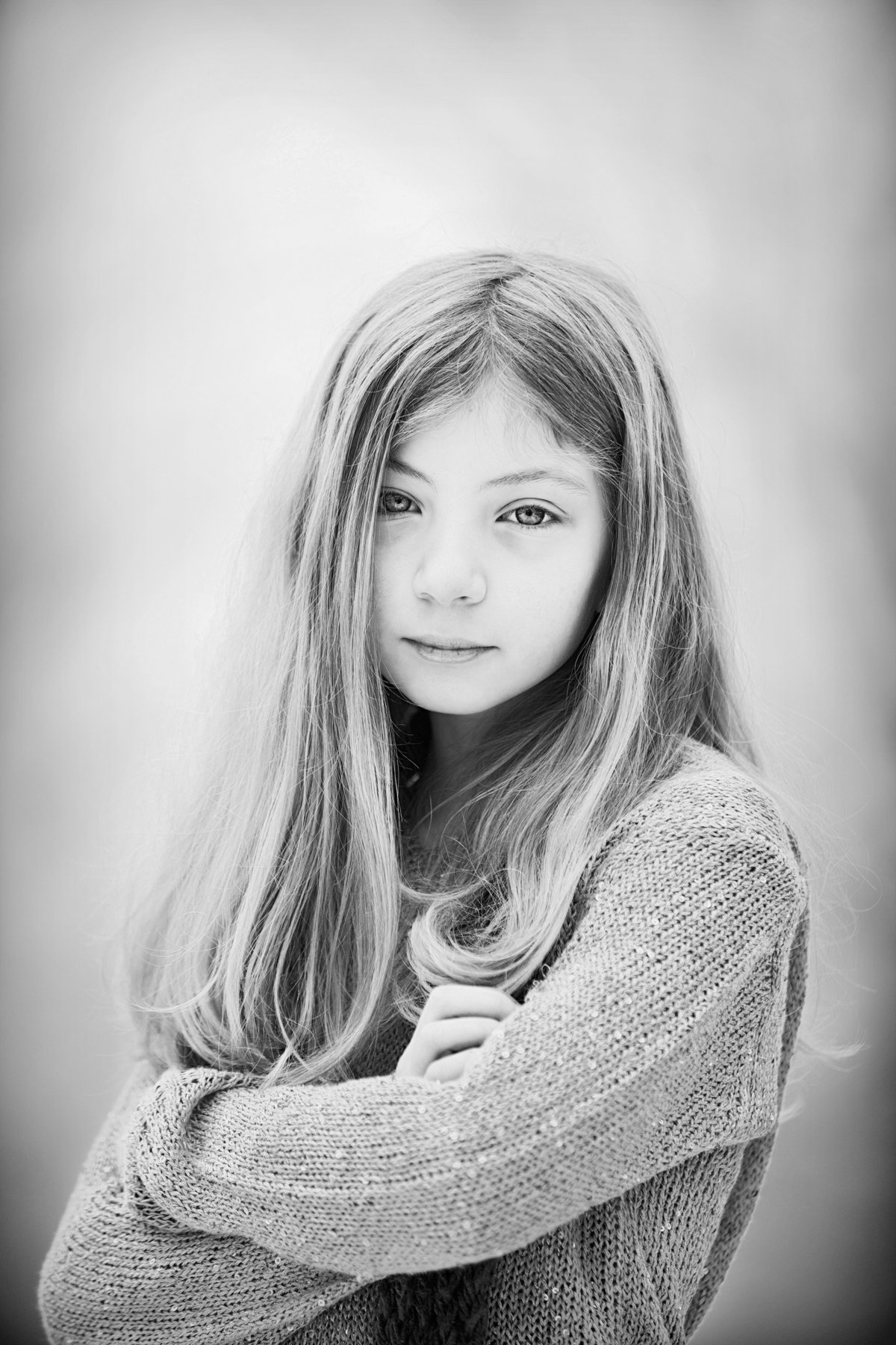 black and white child portraits by Hudson Valley NY professional children's photographer