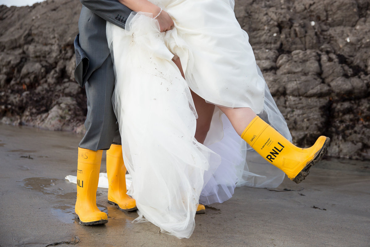 rnli wedding cornwall