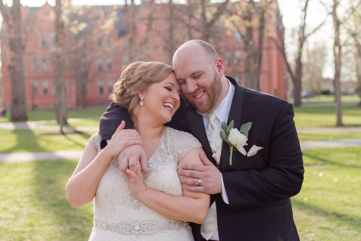 Bowdoin campus wedding portraits