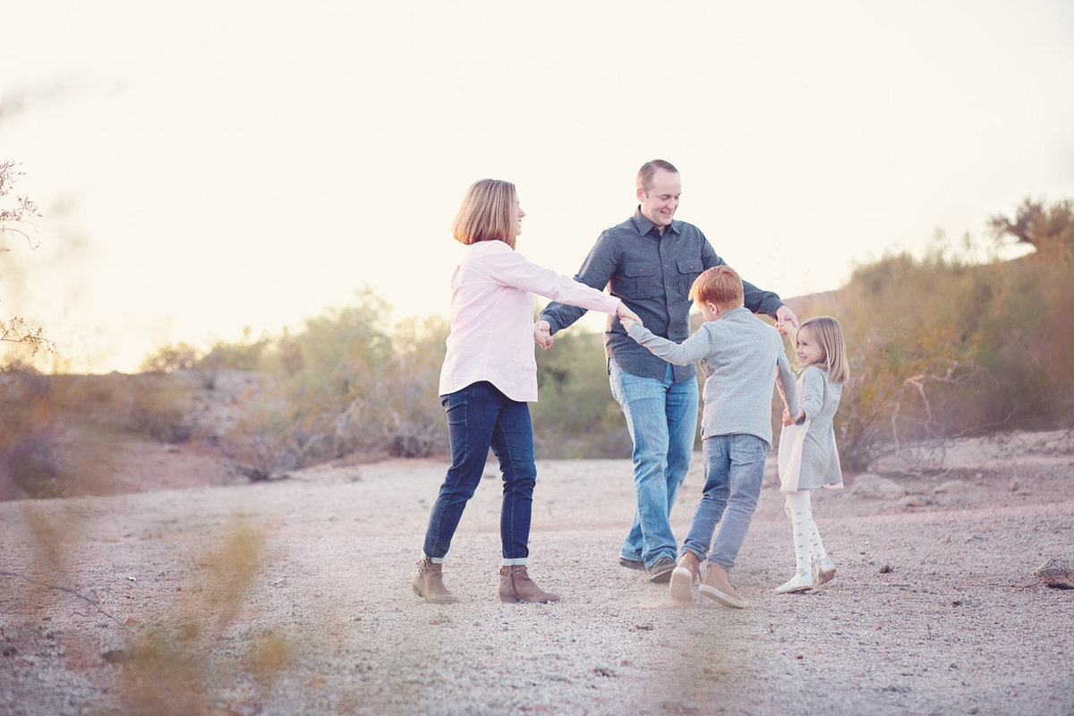 playful family portrait by Scottsdale Arizona Family Photographer Plume Designs & Photography in Scottsdale, Arizona