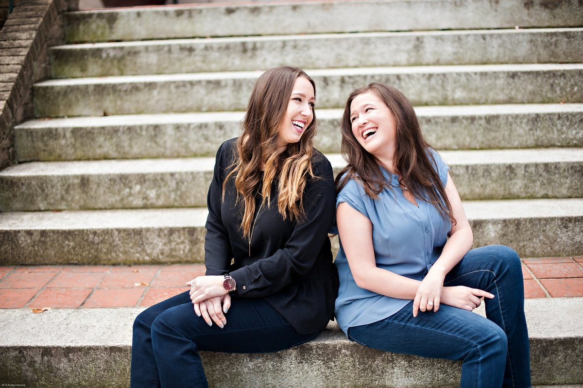team photos for wedding planner duo that scream fun and approachable