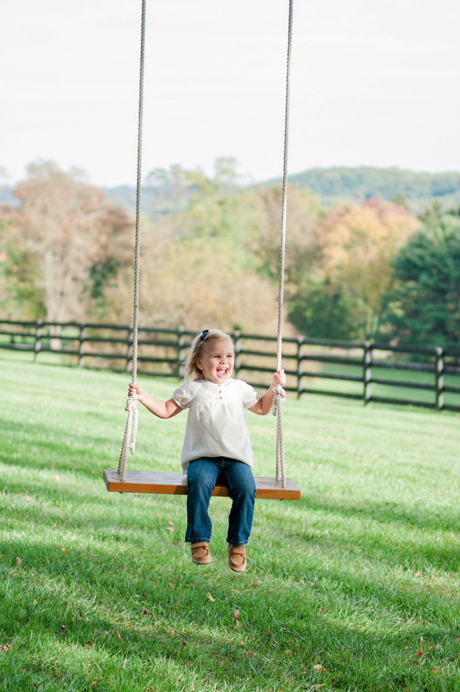 baltimore girl on swing lifestyle portraits