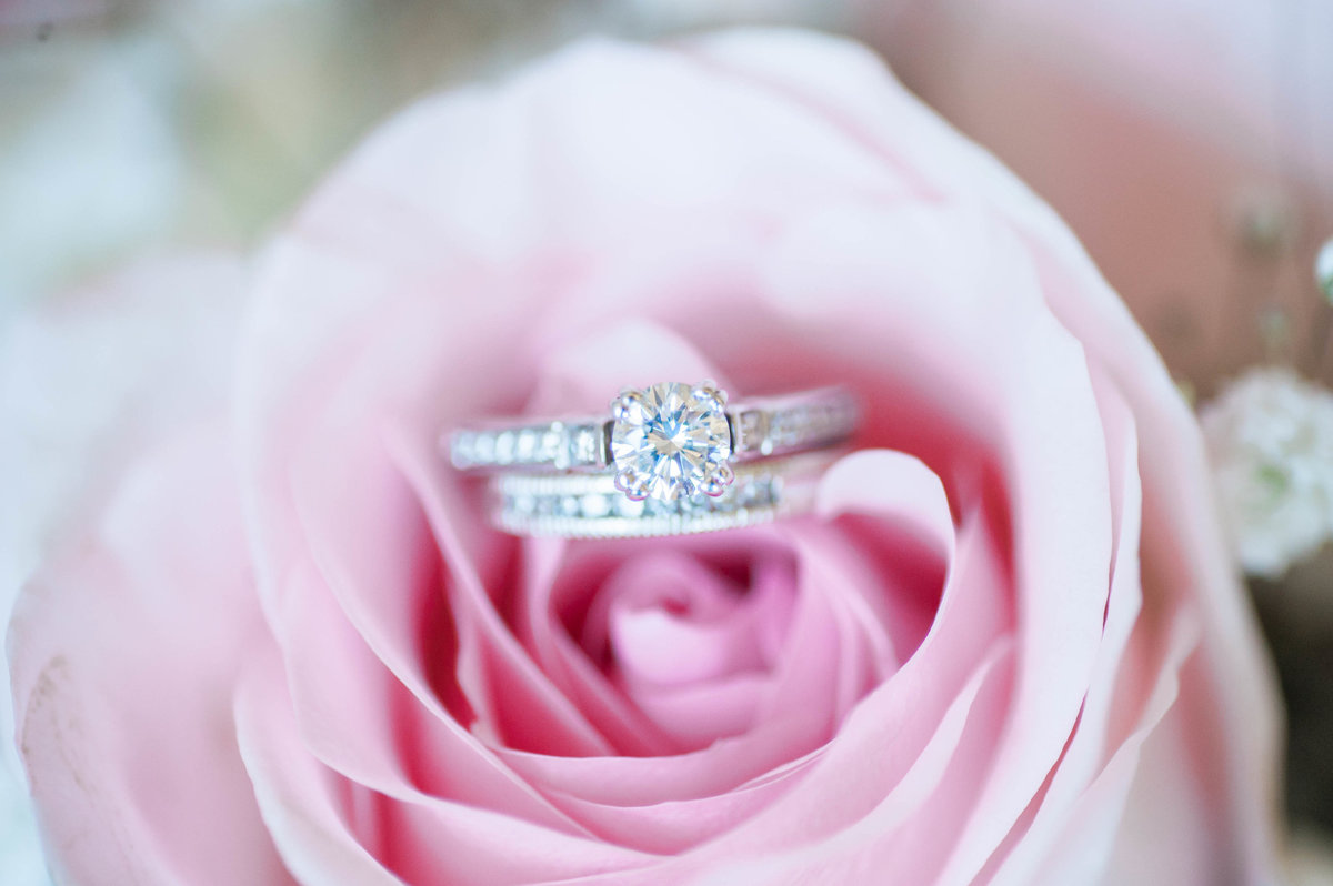 Engagement Ring Pink Rose