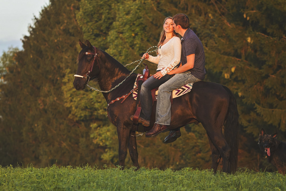 Engagement pictures with horse