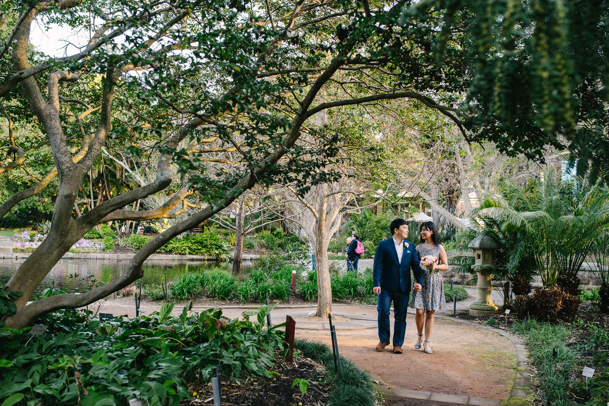 royal botanic gardens sydney engagement shoot -017
