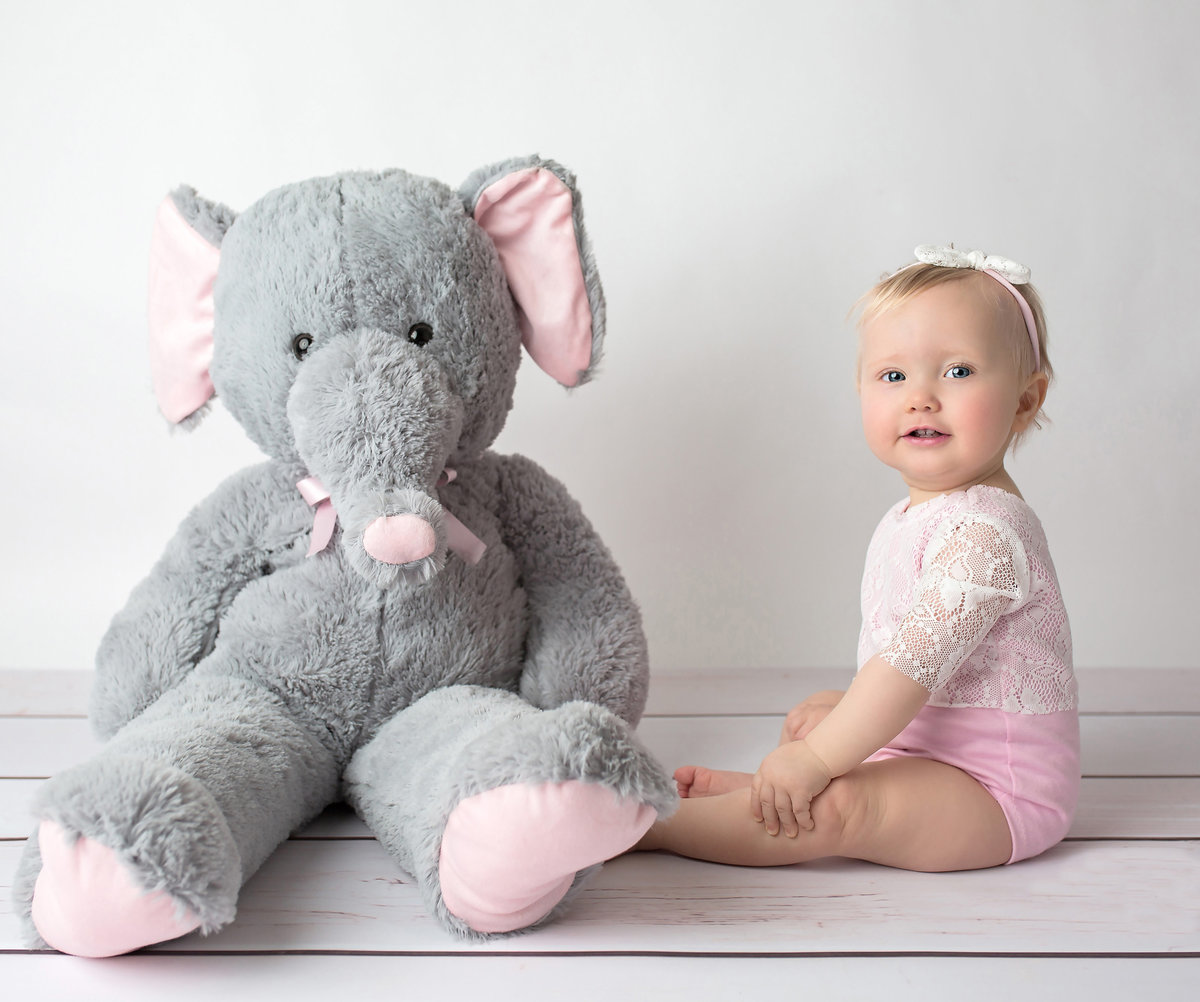 little girl with elephant