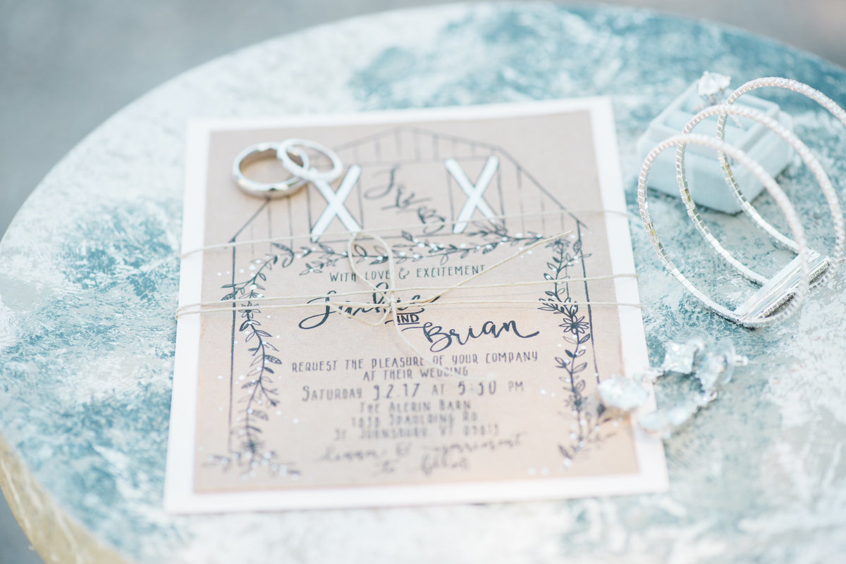 Vermont barn wedding invitation