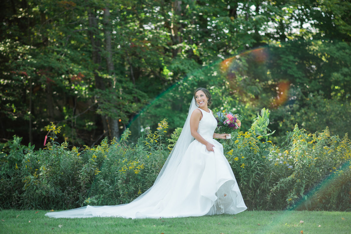 bridal portrait, Audrey Hepburn inspired bride, Vermont wedding photographer