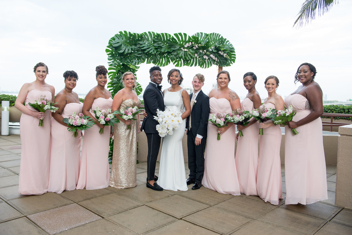 NFL Miami Dolphins Brandon Radcliff ShaKyra Radcliff Briza on the Bay Wedding Andrea Arostegui Photography-153