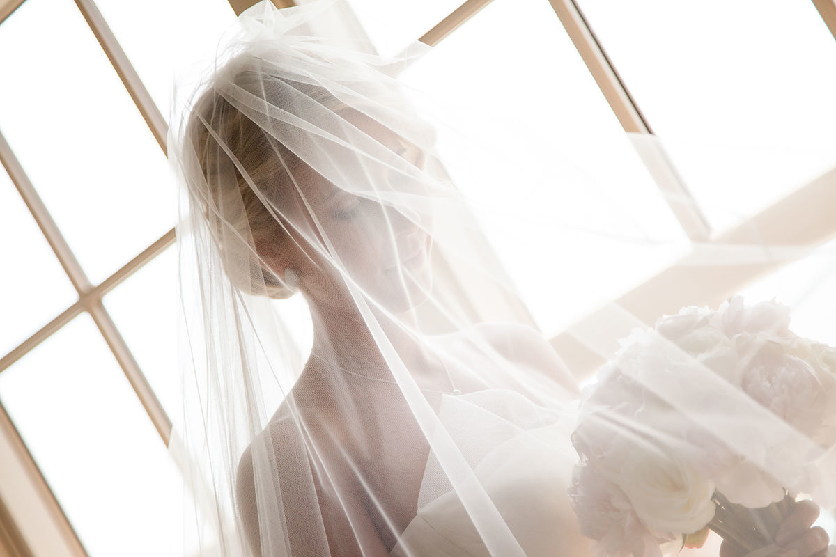 ritz carlton naples florida wedding bride under veil