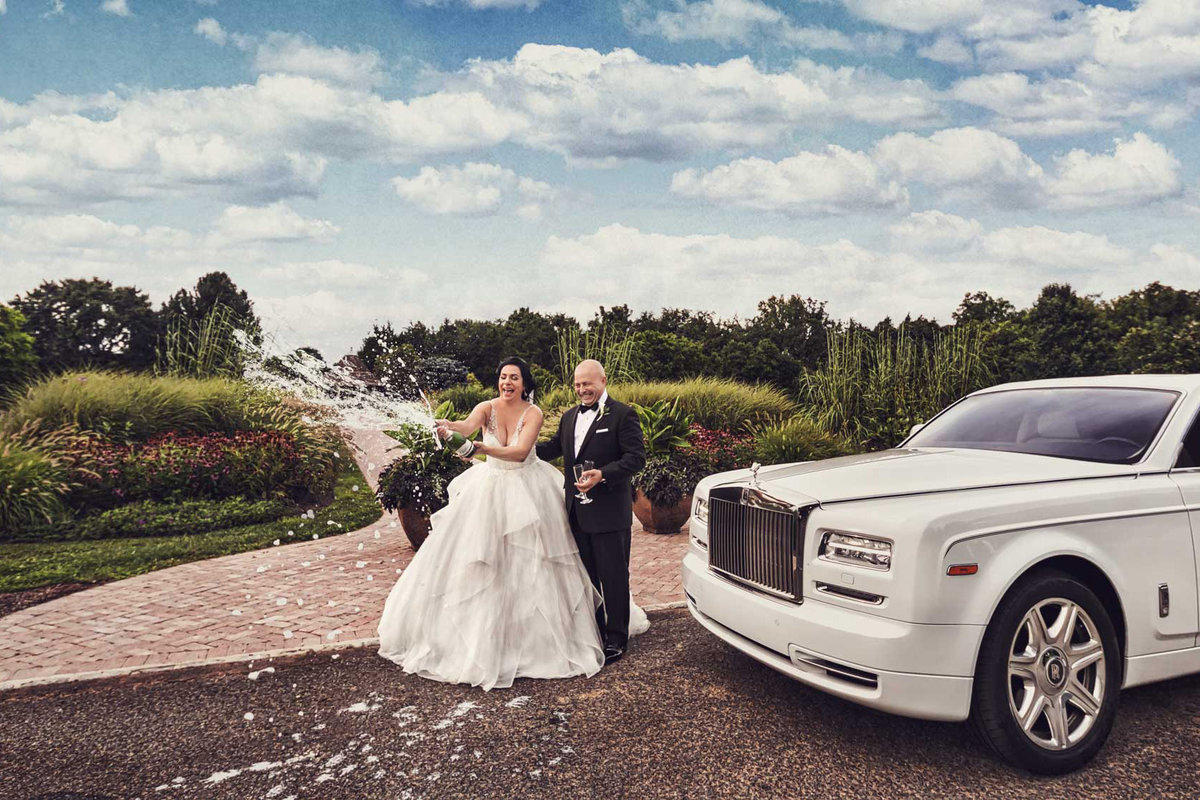 NJ Wedding Photographer Michael Romeo Creations Santos Limo