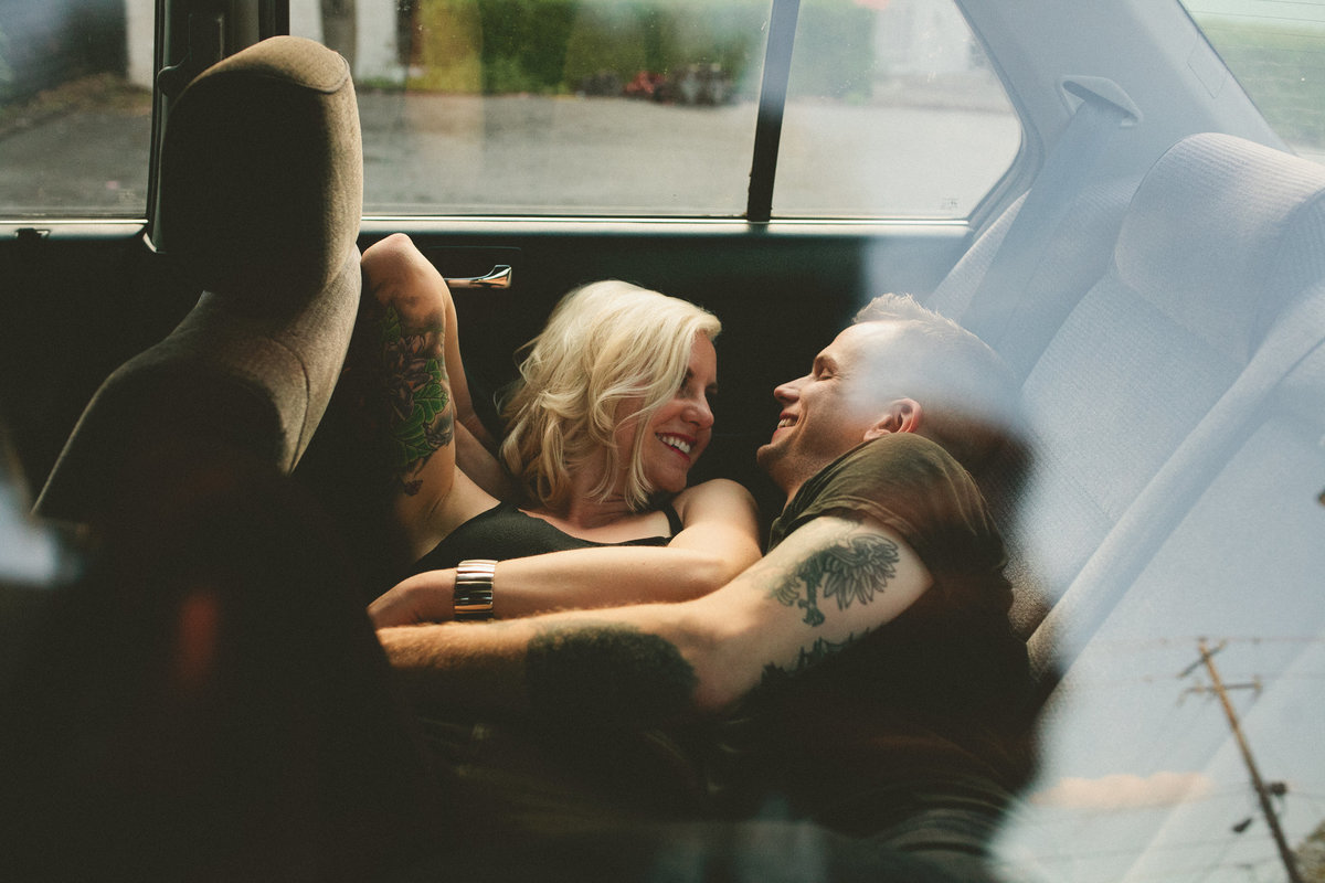 Intimate Engagement Session in Seattle with Couple with Tattoos