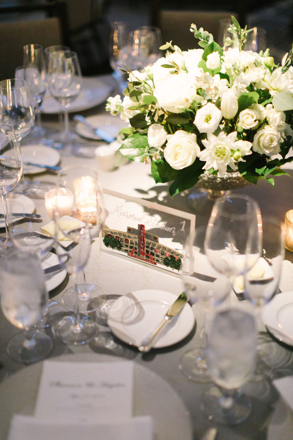 Langham Chicago Wedding with Suspended Greenery Centerpieces_8