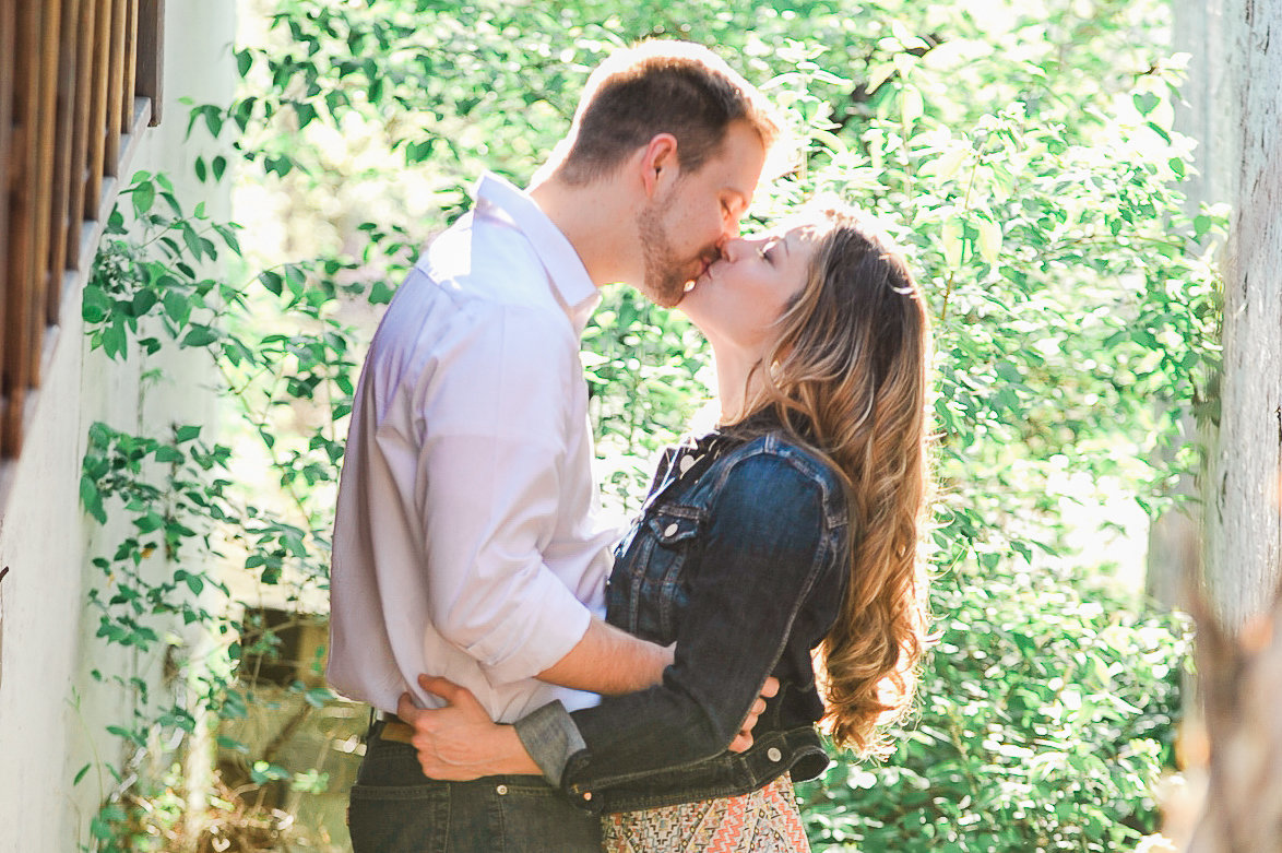 Bentonville and Fayetteville Engagement and wedding photographer, NWA wedding and engagement photographer, engaged couple in love kissing, engagement photo inspiration-4