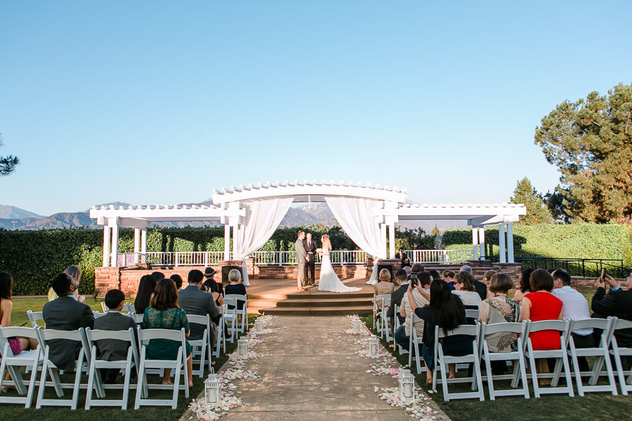 Private wedding ceremony at Mountain Meadows Golf Drive