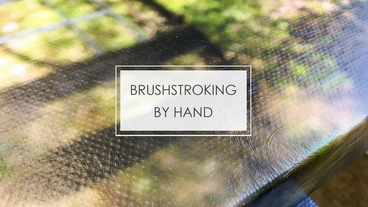 BRUSHSTROKING BY HAND