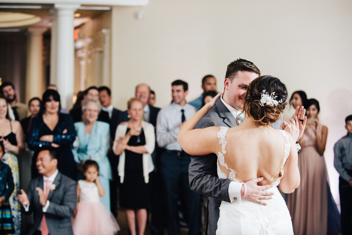 Newly married first dance