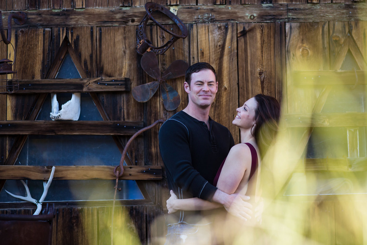 Brooklyn Wedding Photographer | Rob Allen Photography | Destination Wedding Photographer  at Nelsons Ghost town Las Vegas Nevada laughing and having a fun time