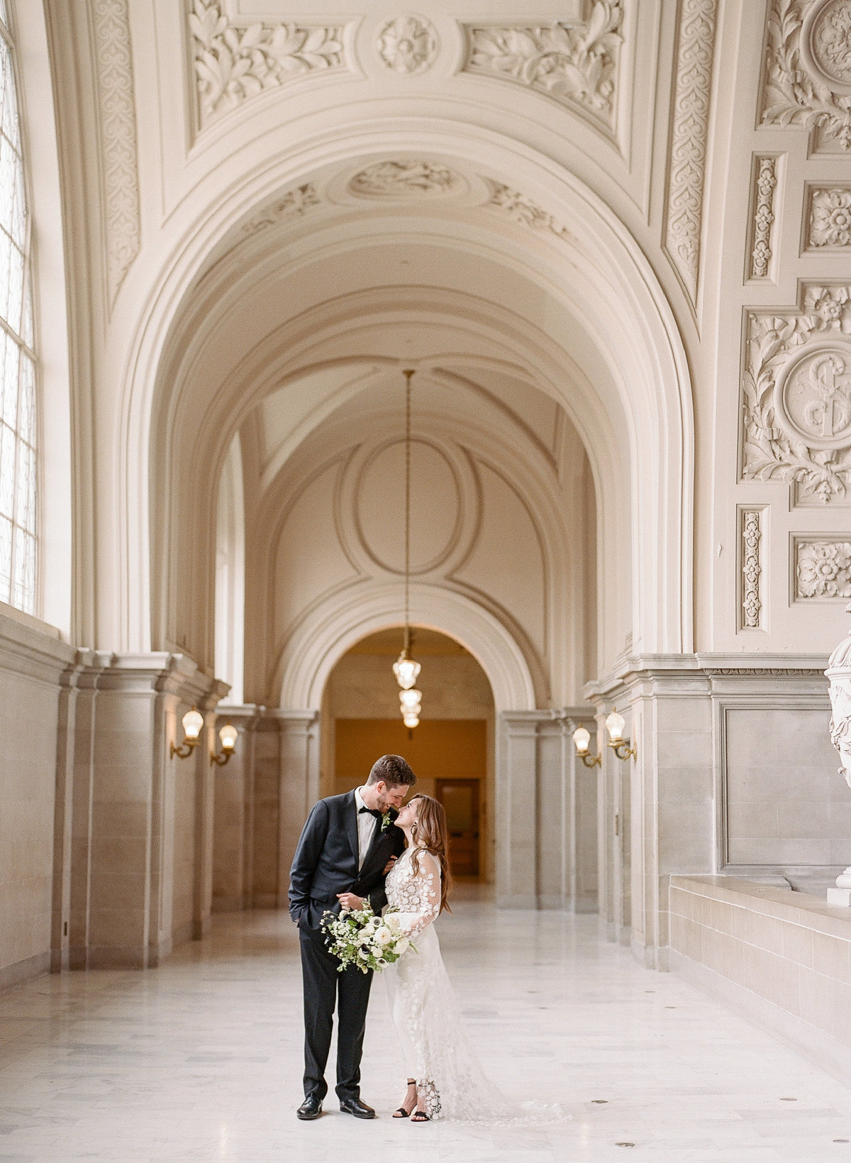 San Francisco City Hall Wedding with Jumpsuit-2