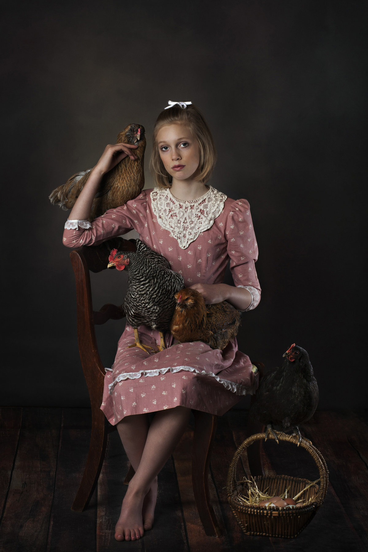 Chicken Whisperer, Girl with pet chickens