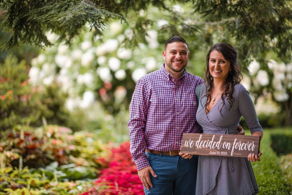30 engagement photos with sign for save the dates for mansion at bald hill woodstock ct