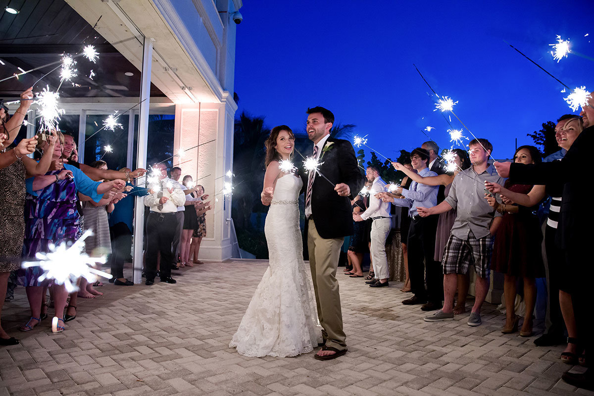 marco beach ocean resort sparkler exit wedding