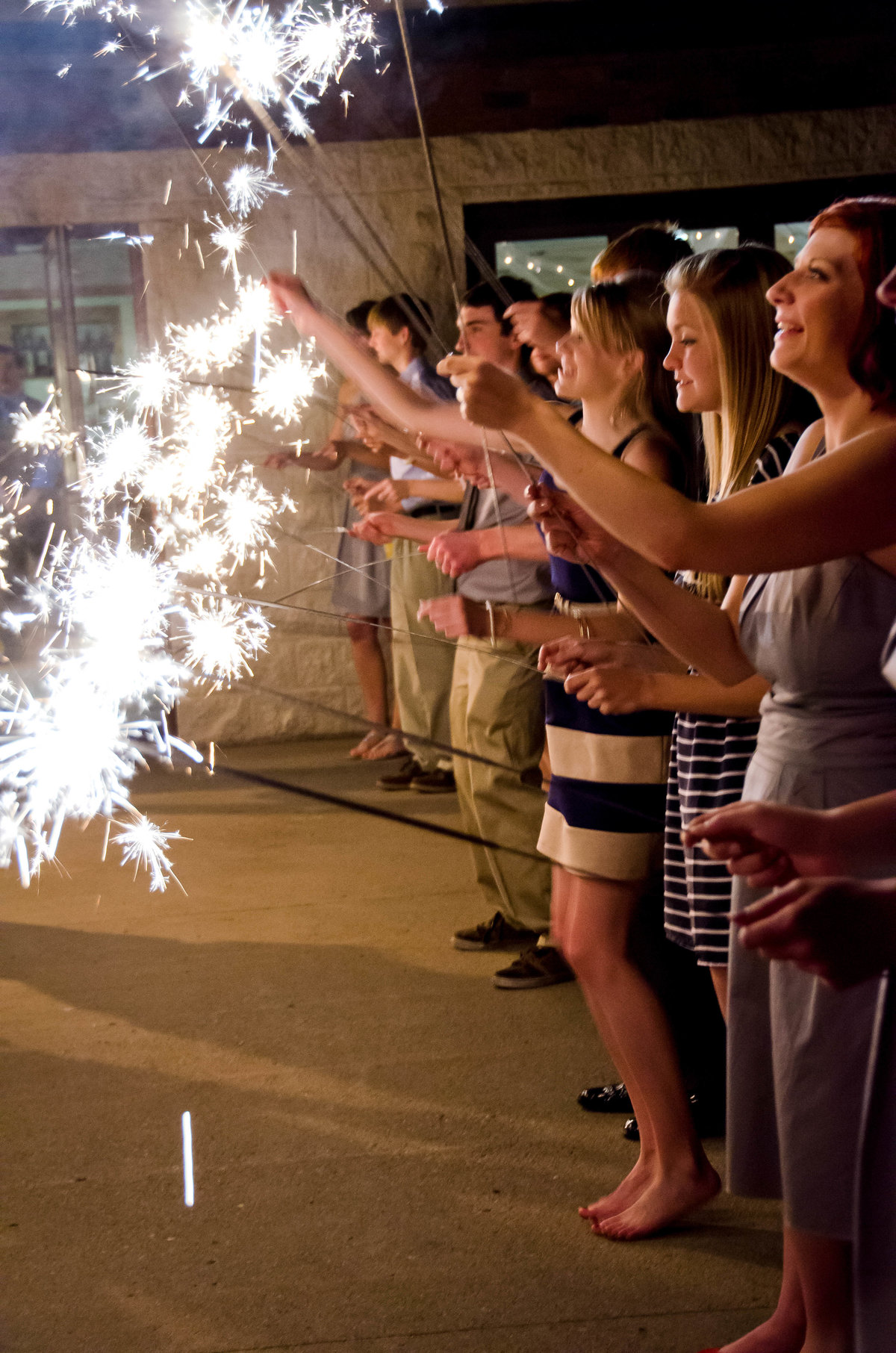 bride-groom-sparklers