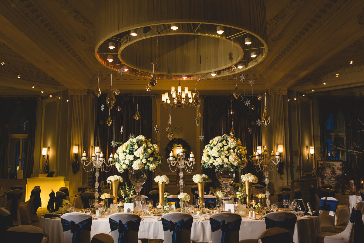 beautiful wedding decor at the midland hotel manchester