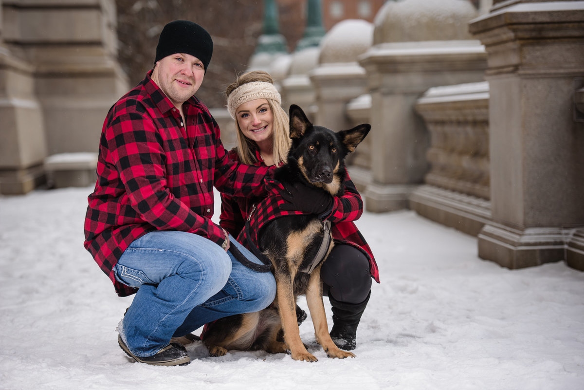 Capitol Building, Albany, NY, winter engagement session
