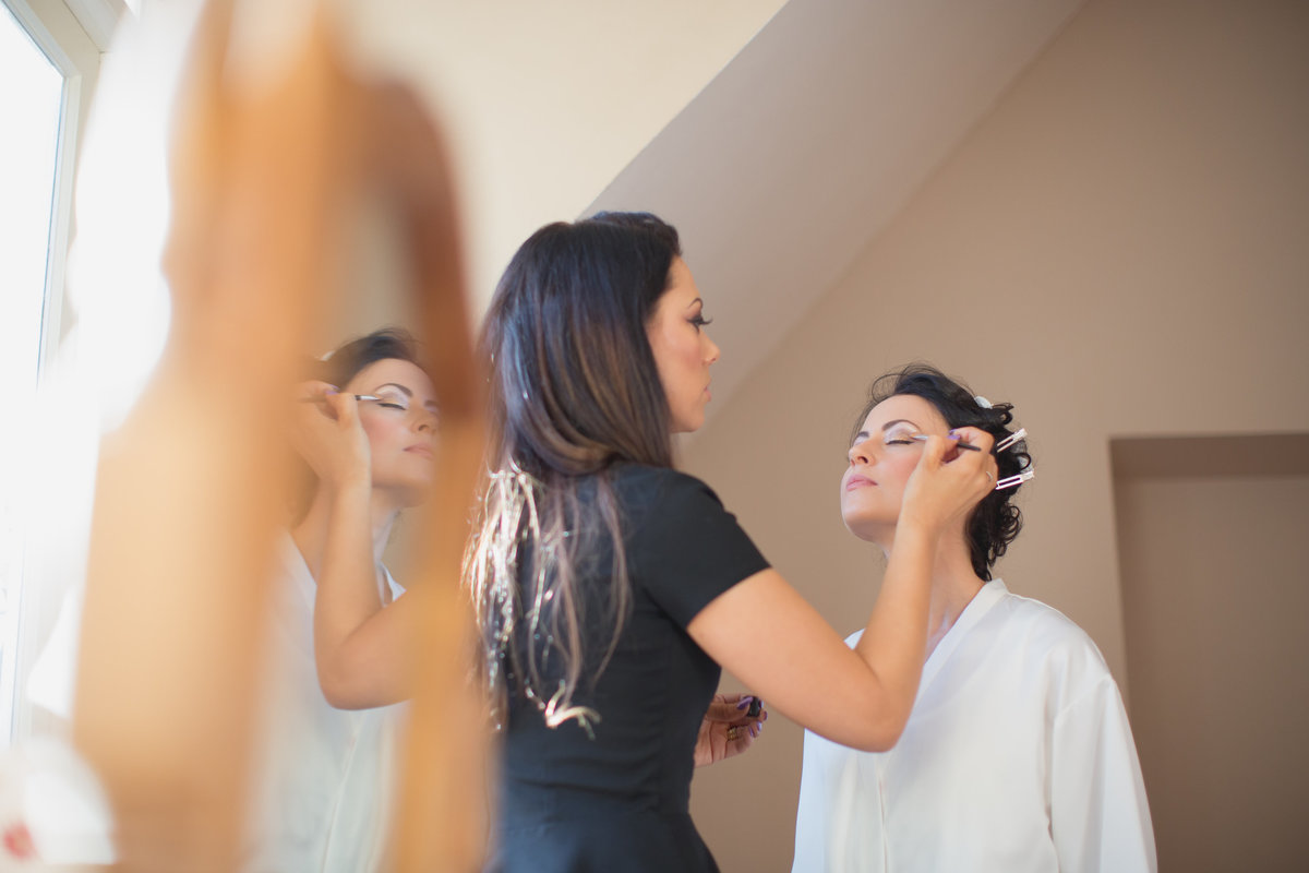 bridal make up for st audries park wedding somerset