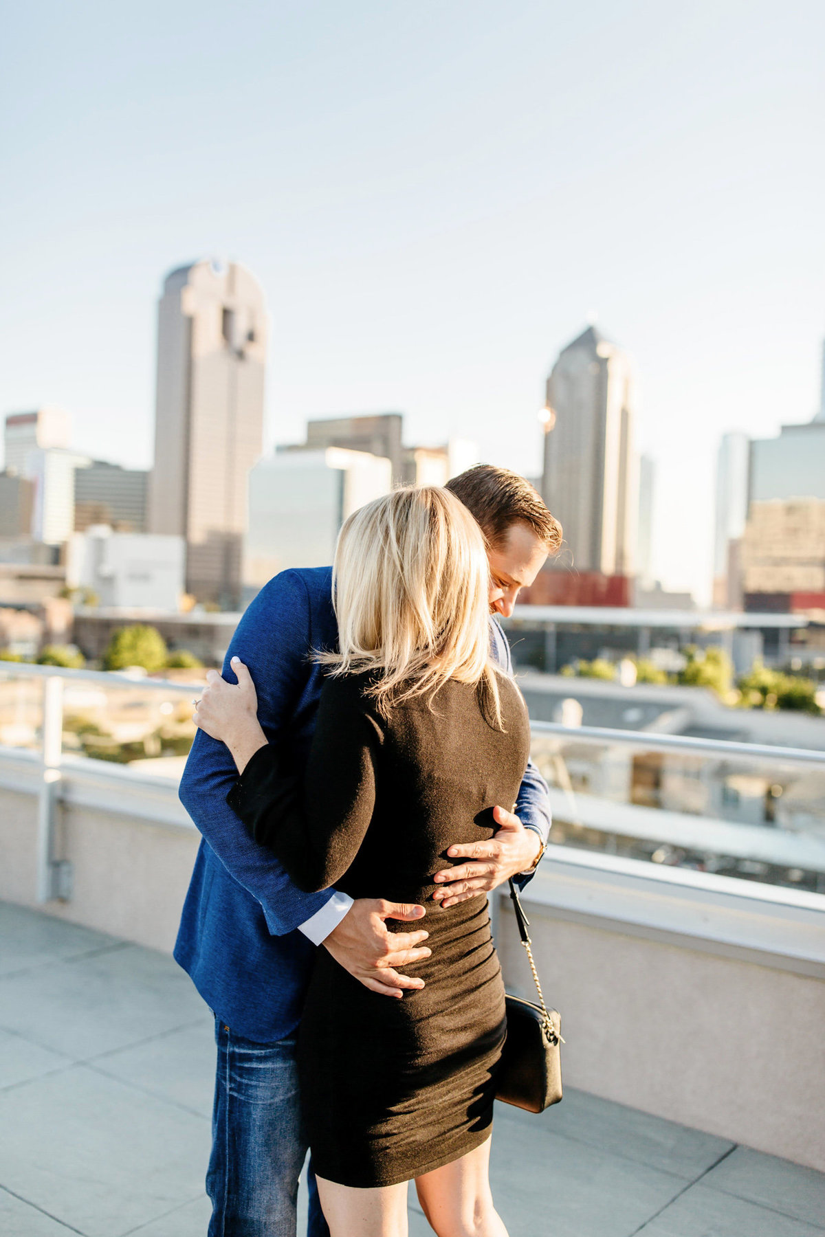 Eric & Megan - Downtown Dallas Rooftop Proposal & Engagement Session-48