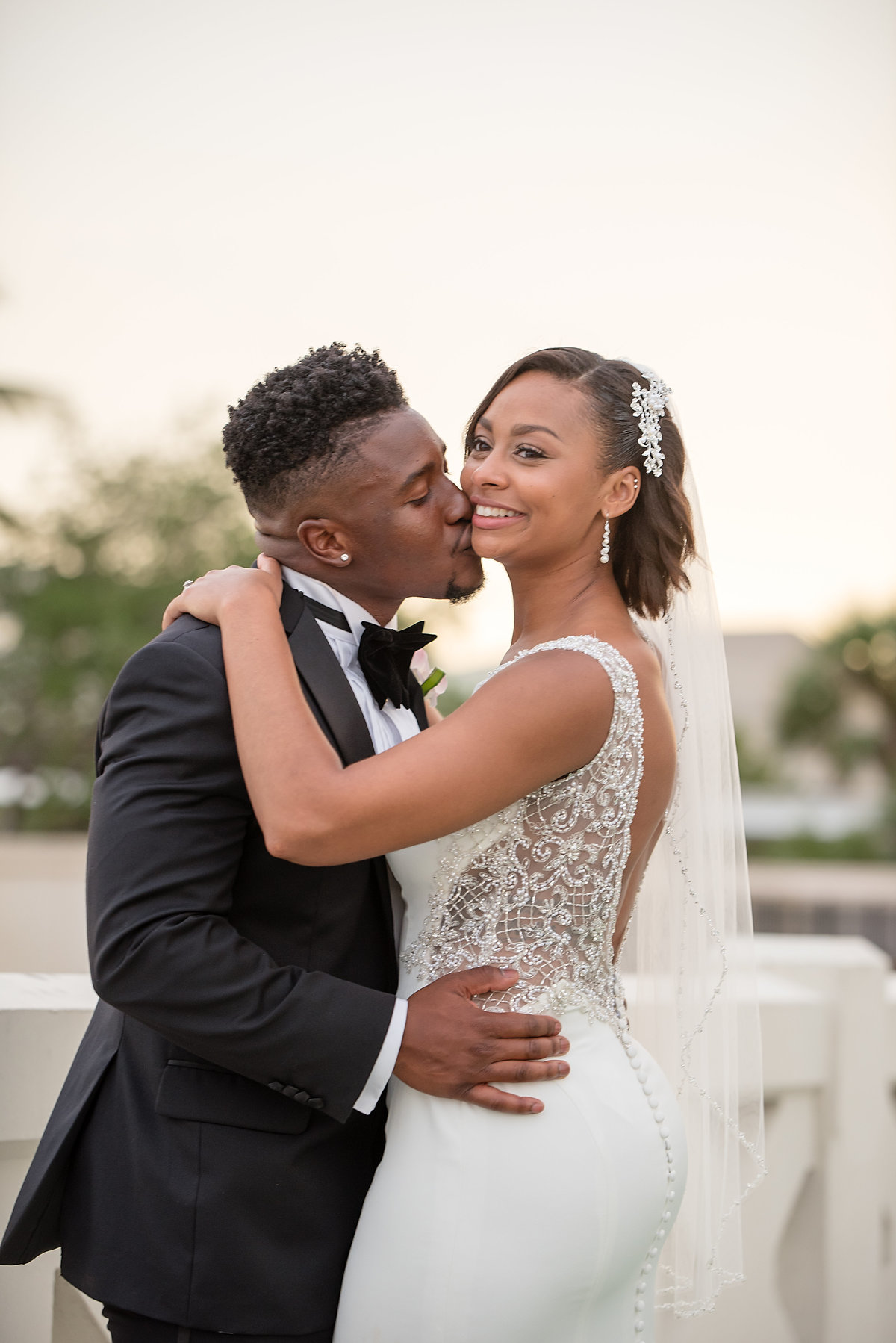 ShaKyra Brandon Radcliff Miami Dolphins Football Running Back Wedding-2
