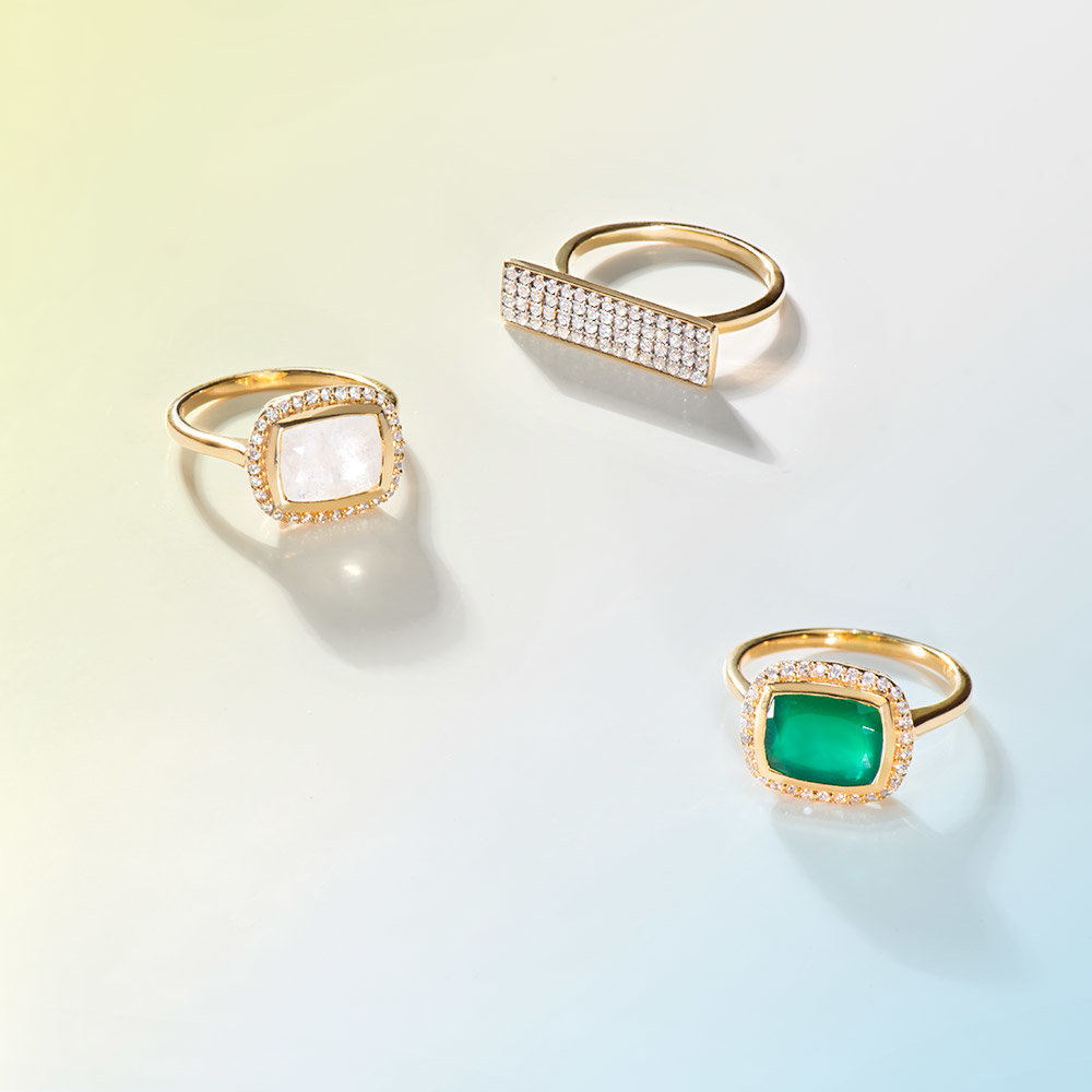 moonstone-ring-green-onyx-ring-gold-bar-ring-lolo-jewellery