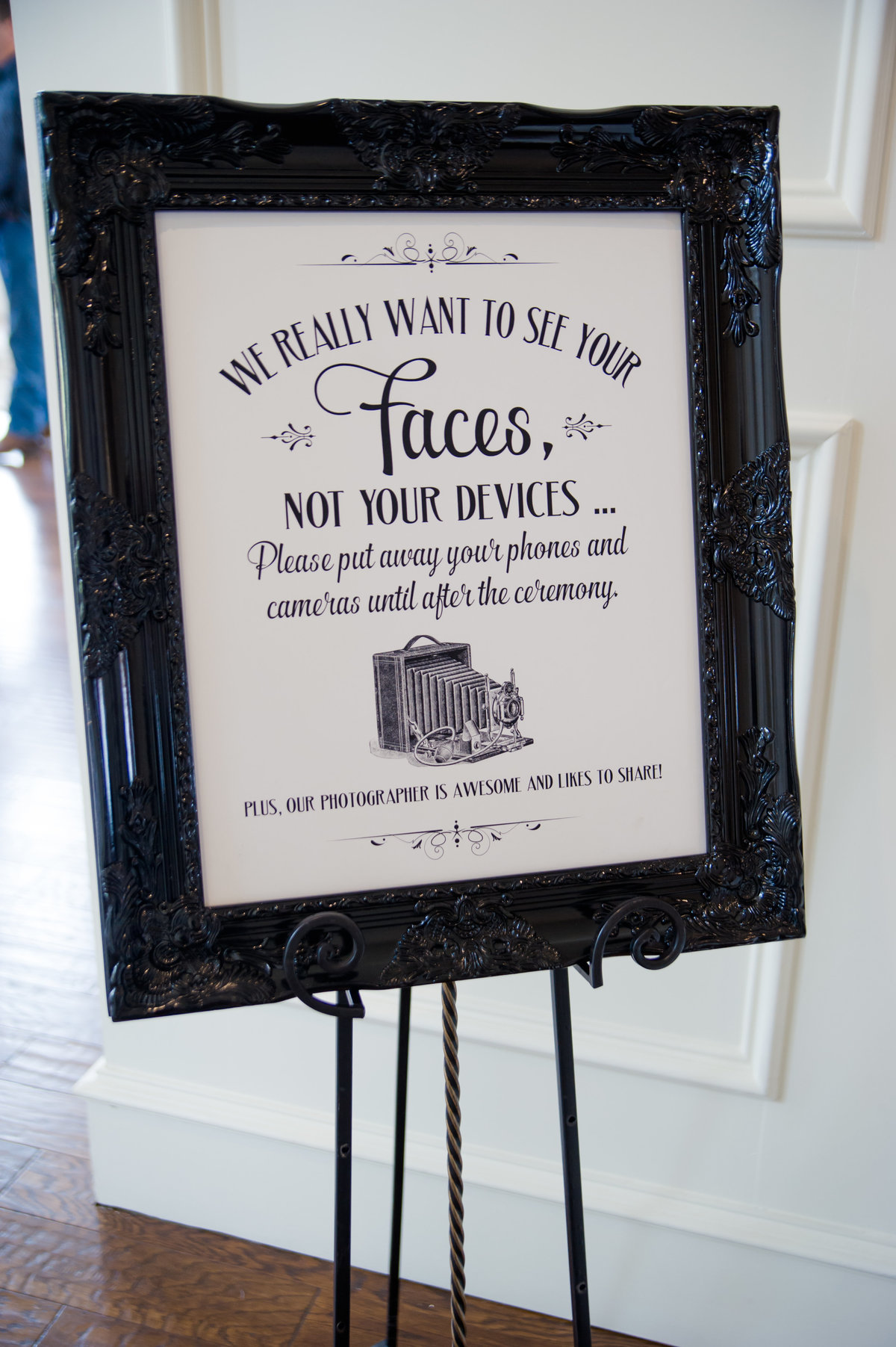 Unplugged wedding sign by Brittany Barclay Photography