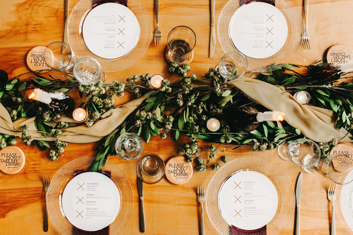 mn industrial wedding table setting