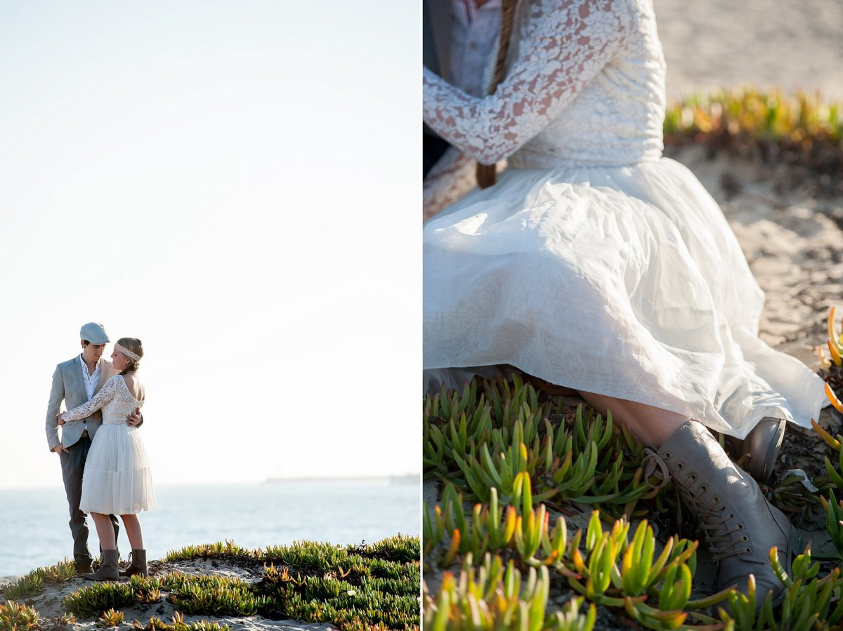 Unique intimate boho style weddings photographed by Kris Kandel