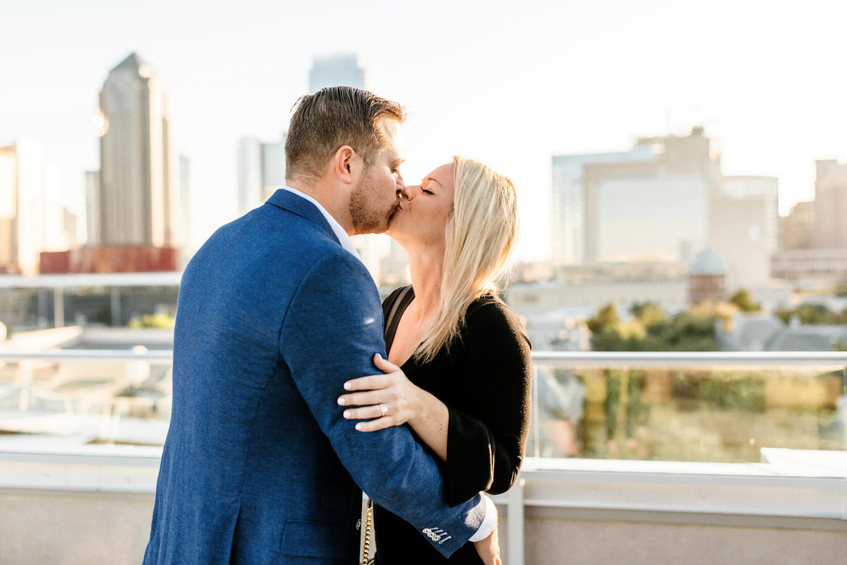 Eric & Megan - Downtown Dallas Rooftop Proposal & Engagement Session-41