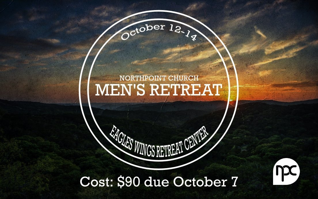 Mens Retreat 2018 with cost