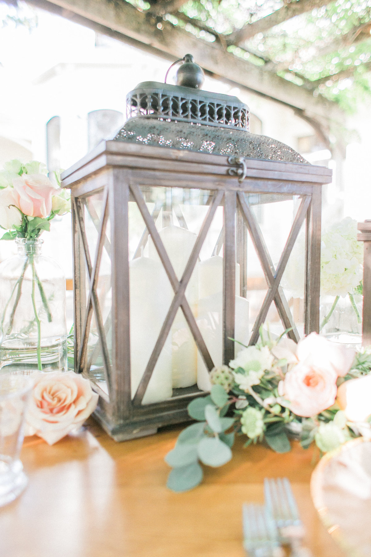 Rustic Lantern Candle Holder