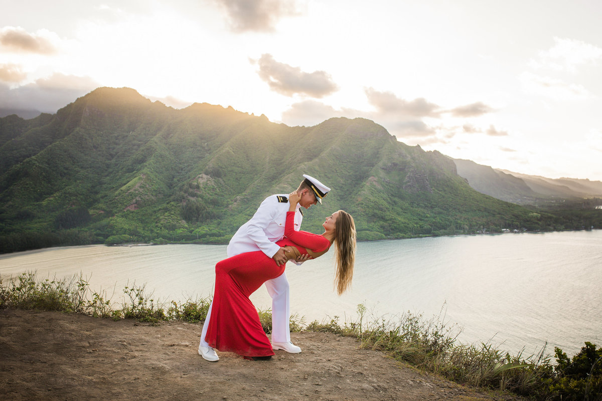Mountaintop Engagement Session in Hawaii