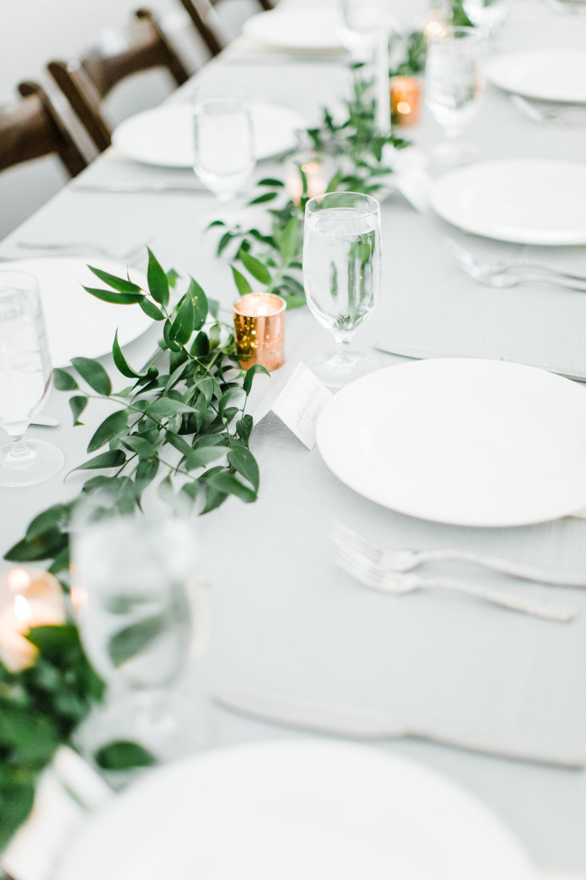simple and elegant reception decor photo